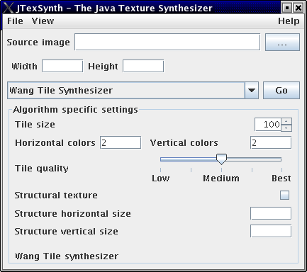 Screenshot of JTexSynth 0.2.1
